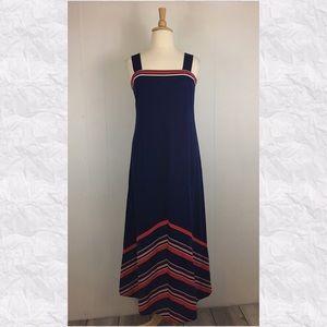 Vintage 70's Striped Maxi Dress